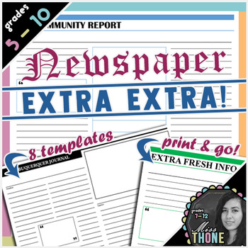 Getting To Know You Newspaper Template Teaching Resources Teachers
