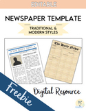 Newspaper Template    Digital Version