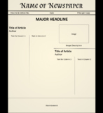 Newspaper Template - Editable Google Doc