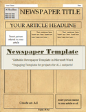 Newspaper Template-For All Subjects