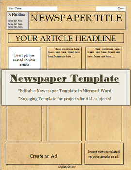 newspaper template for all subjects newspaper template for all subjects