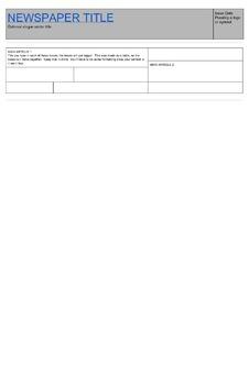 newspaper template google doc by teaching techy tpt