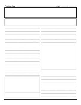 Newspaper Template Printable