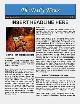 newspaper template for google docs by luke gunkel tpt