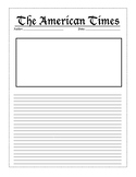 Newspaper Template for Interactive Notebook