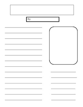 Newspaper Template for Lower Grades