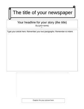 Newspaper Template to edit in Word