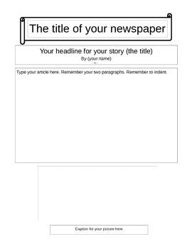 Newspaper Template to edit in Word