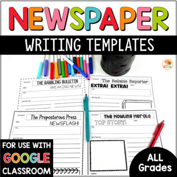 Newspaper Template Worksheets & Teaching Resources | TpT