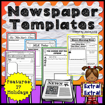 newspaper templates by jessica s resources teachers pay teachers