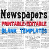 Newspaper Templates- Editable & Lined Textboxes