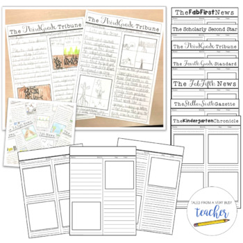Newspaper Templates {Editable Titles}