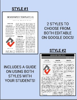 Newspaper Templates (Two Different Styles)