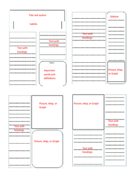 Newspaper Templates for Elementary and Middle Grades