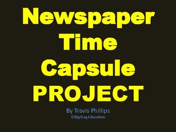 Newspaper Time Capsule Project