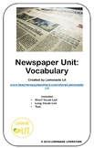 Newspaper Unit: Vocabulary