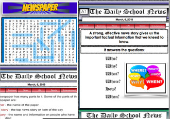 Newspaper - Writing a News Article PDF Lesson 26 Pages