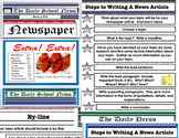 Newspaper - Writing a News Article PDF Lesson 29 Pages