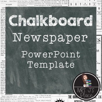 Newspaper and Chalkboard PowerPoint template