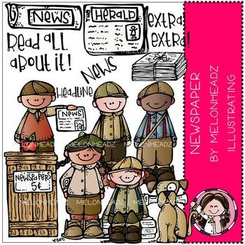 Newspaper clip art - by Melonheadz