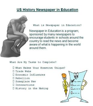 Newspaper in Education - Comparing Themes in U.S. History - 7 Activities