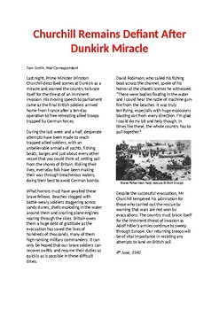 Newspaper report - Dunkirk Evacuations - WW2