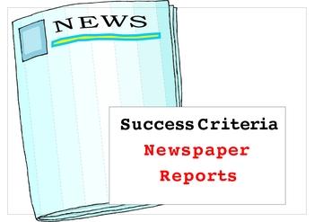 Newspaper reports success criteria