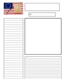 Newspaper template for 13 colonies/American Revolution