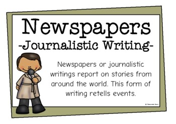 Newspapers (Journalistic Writing)