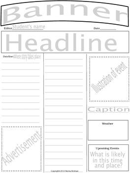 Newspapers, comics, essays, money, poetry & more templates 4 students & teachers