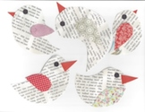Newsprint birds