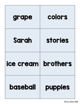 Nouns Literacy Center {Singular, Plural, Possessive & Proper Nouns}