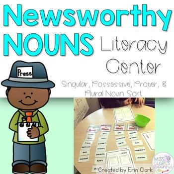 Newsworthy Nouns! {Sorting Singular, Plural, Possessive &