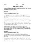 Newswriting packet: sources, quote/paraphrase, ledes, and more