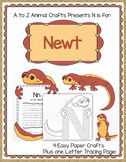 """Newt and Letter """"N"""" Crafts"""