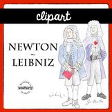 Newton and Leibniz - images