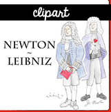 Newton and Liebniz CLIPart