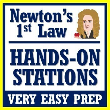 Newton's 1st Law of Motion Inertia Activities  NGSS MS-PS2-2 MS-PS2-1