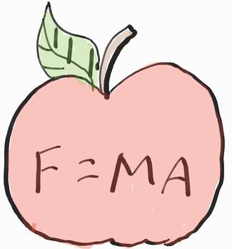 Newton's 2nd Law Apple Doodle
