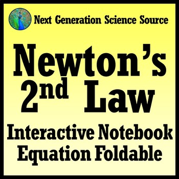 FREE Newton's 2nd Law Interactive Notebook Foldable NGSS MS-PS2-2