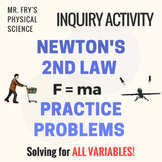 Newton's 2nd Law Problems F=ma  HS-PS2-1