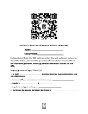 Newton's 2nd Law of Motion-Science of the NFL video QR code Worksheet
