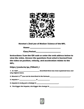 Newton's 2nd Law of Motion-Science of the NFL video QR cod