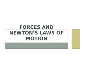 Newton's 3 Laws Notes