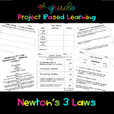 Newton's 3 Laws PBL Unit 5.P3U1.4 & 5.P3U2.5