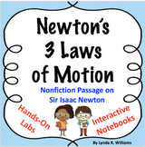 Newton's 3 Laws of Motion 5 E Learning Cycle Lesson