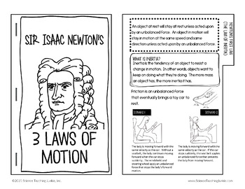 Newton's 3 Laws of Motion Flipbook