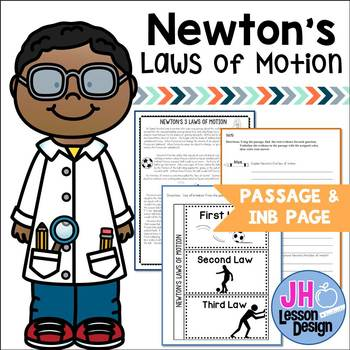 Newton's 3 Laws of Motion: Nonfiction Passage and Interactive Notebook Activity