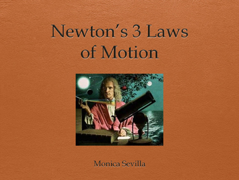 Newton's 3 Laws of Motion Powerpoint