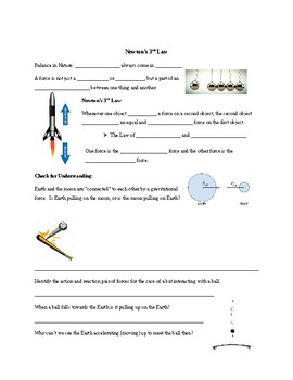 Newton's 3rd Law Guided Notes